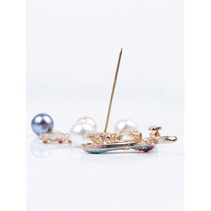 Clothes Hanger Tassel Christmas Brooch -