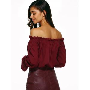 Off The Shoulder Puff Sleeve Blouse -