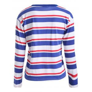 Long Sleeves Striped Pattern T-Shirt -