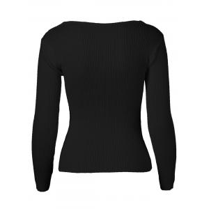 Long Sleeves Twist Front Sweater -