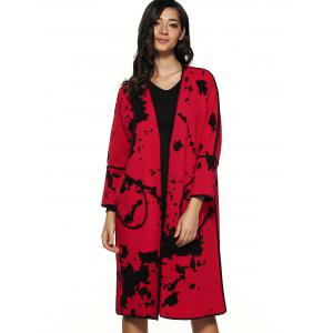 Splash Ink Pattern Woolen Overcoat -