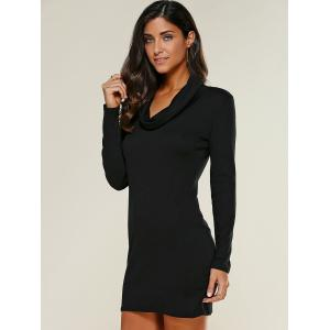 Cowl Collar Bodycon Dress -