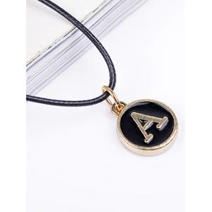 Double Layers Letter Choker Necklace -