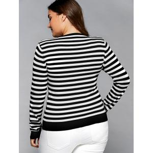 Striped Crayfish Pattern Plus Size Knitwear -