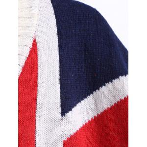 Flag Pattern V Neck Pullover Sweater -