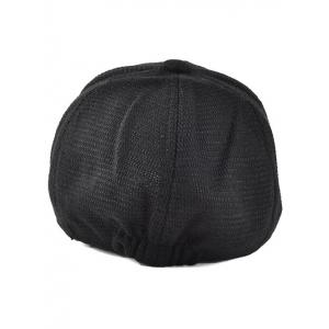 Winter Letter Embroidery Knit Baseball Hat -