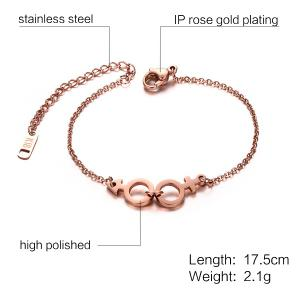 Lover Sign Circle Chain Bracelet -