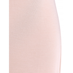 3/4 Sleeve Contrast Color Zippered Dress - PINK 2XL
