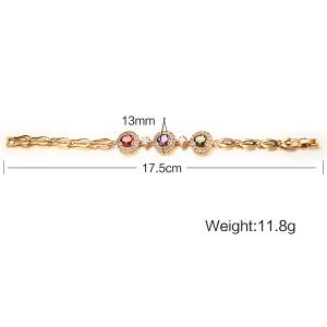 Artificial Gem Rhinestone Chain Bracelet -