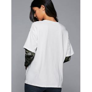 Layered Sleeve Graphic T-Shirt -