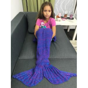 Yarn Free Knitted Sleeping Bags Mermaid Tail Shape Blanket -