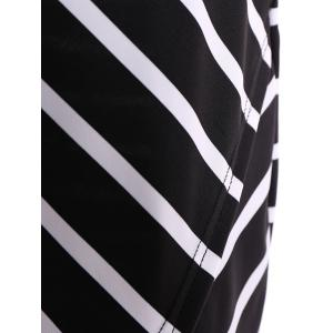 Striped Maxi High Low Dress -