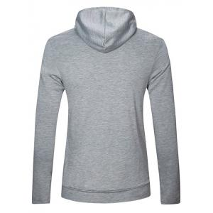 Long Sleeve Plain Pullover Hoodie - LIGHT GRAY XL