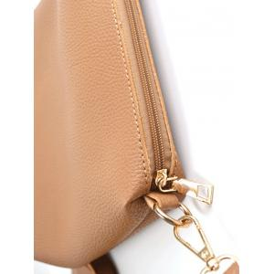 Textured Leather Color Splicing Tote Bag -