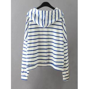Striped Pockets Sweatshirt - WHITE 3XL