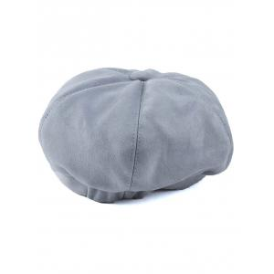Winter Letter Embroidery Faux Suede French Beret -