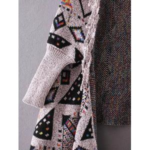 Fringed Jacquard Cape Cardigan -