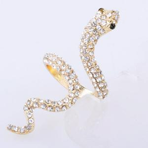 Vintage Rhinestoned Snake Ring - GOLDEN ONE-SIZE
