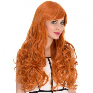 Long Side Bang Wavy Sparkling Cosplay Synthetic Wig -