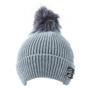 Winter Safe Pin Fuzzy Ball Knit Hat -