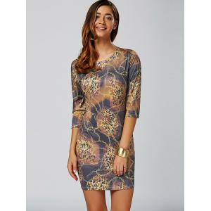 Leopard Chain Imprimer Mini Robe moulante - Multicolore XS