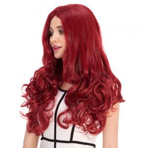 Long Centre Parting Wavy Stunning Cosplay Synthetic Wig -