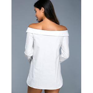 Knotted Off The Shoulder Shirt -
