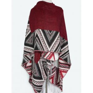 Winter Arrow Direction Zigzag Tassel Wrap Shawl Pashmina -