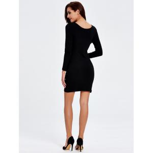 Long Sleeve Mini Bodycon Dress -