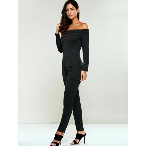 Off The Shoulder Long Sleeve Jumsuit -