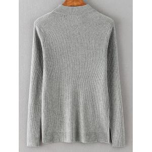 Lace Spliced Loose Sweater - GRAY