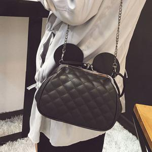 Quilted Kiss Lock Metal Trimmed Tote -