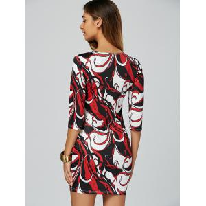 Abstract Bodycon Mini Dress - MULTICOLOR 2XL