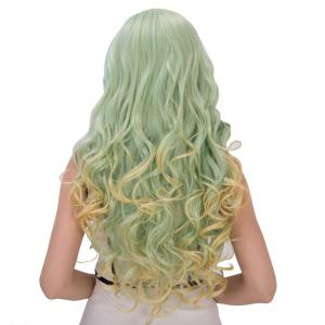 Colorful Gorgeous Long Side Bang Wavy Cosplay Synthetic Wig -