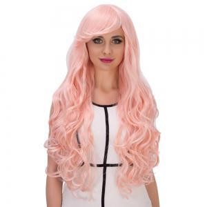 Fascinating Long Side Bang Wavy Cosplay Synthetic Wig -