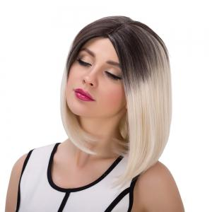 Medium Colormix Straight Centre Parting Synthetic Wig - COLORMIX