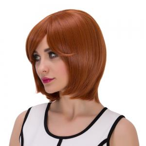 Pixie Short Oblique Bang Straight Synthetic Wig -