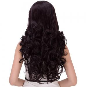 Long Cute Centre Parting Wavy Synthetic Wig - COLORMIX