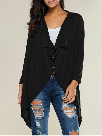 Cheap Buttoned Asymmetrical Cardigan