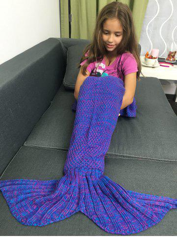 Latest Yarn Free Knitted Sleeping Bags Mermaid Tail Shape Blanket