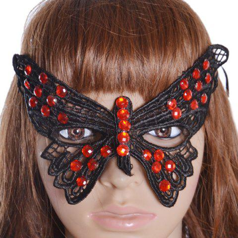 Buy Gothic Style Faux Ruby Butterfly Lace Party Mask
