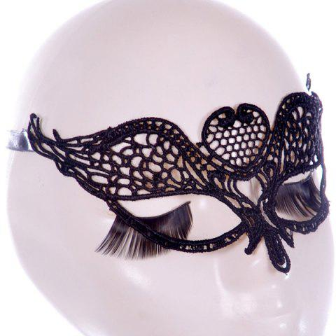 Store Gothic Style Wings Lace Party Mask BLACK
