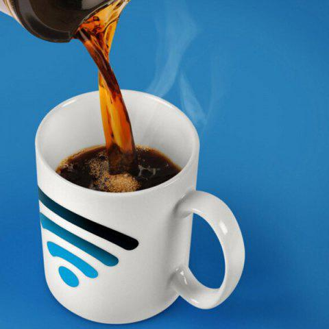 Outfit WIFI Signals Heat Sensitive Color Changing Coffee Milk Mug