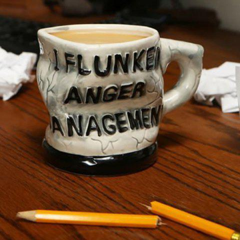 Distorted Letters I Flunked Anger Management Coffee Mug от Rosegal.com INT