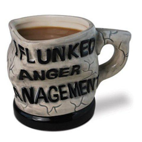New Distorted Letters I Flunked Anger Management Coffee Mug COLORMIX