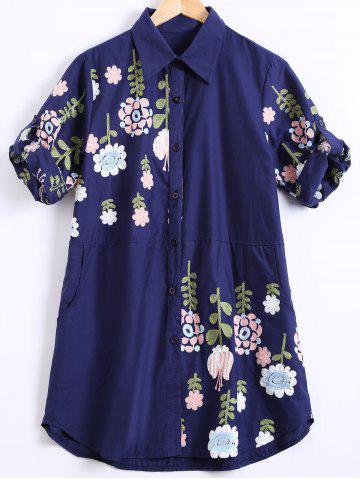 Affordable Ethnic Floral Embroidered Shirt