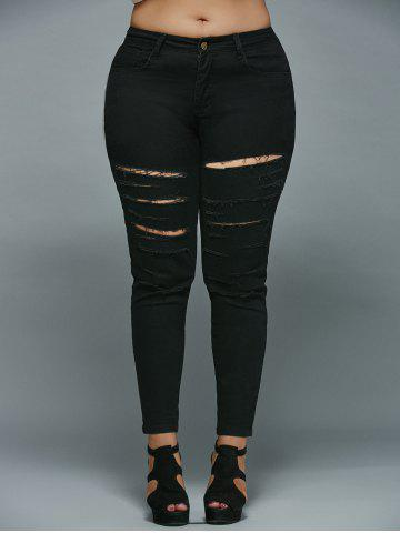 Skinny Plus Size Ripped Jeans от Rosegal.com INT