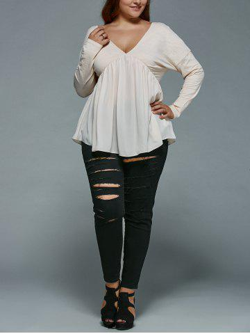 Plus Size Distressed Jeans от Rosegal.com INT