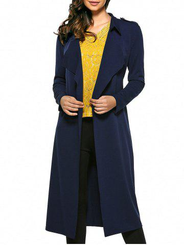 Buy Self-Tie Long Wrap Coat