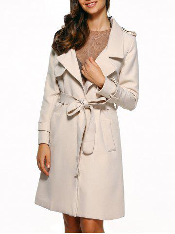 Affordable Self-Tie Epaulet Trench Coat